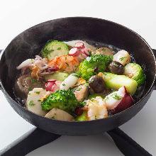 蒜香橄欖油風味海鮮