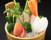產地直銷蔬菜拼盤,自家製鳳尾魚味噌