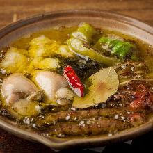 西班牙蒜香燉鮮蝦酪梨