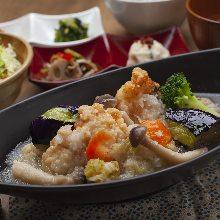 白肉魚淋蘿蔔泥芡汁