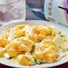 蛋黃醬炸蝦球