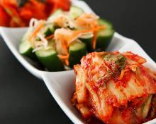 3種韓國泡菜拼盤