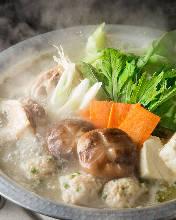 雞肉蔬菜清湯火鍋