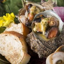 烤帶殼角蠑螺