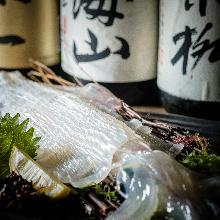 活長槍烏賊生魚片