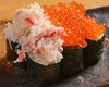 蓋澆蟹肉鮭魚子壽司