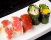 生鮮馬肉的握壽司拼盤