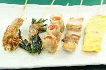 5種豬肉串燒拼盤