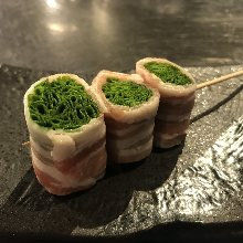 五花豬肉捲大蔥烤串
