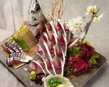 青花魚生魚片
