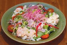 豆腐涮豬肉沙拉