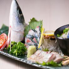 活鯖魚生魚片