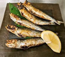 烤整條沙丁魚乾