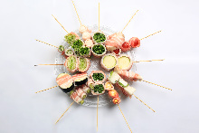 蔬菜捲串燒拼盤