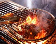 炭火烤雞肉