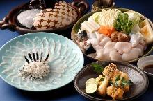 虎河豚生魚片