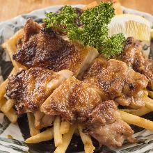 蒜味醬油烤雞腿肉