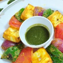 印式烤小塊蔬菜起司
