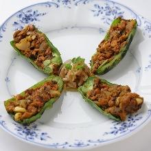 烤豆餡青椒