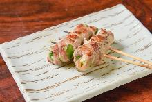 豬肉捲青椒起司串