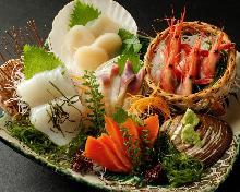 白肉魚生魚片拼盤