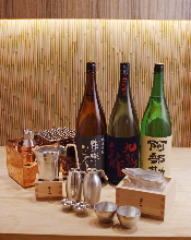 OSUZU (A rich variety of SAKE by the bottle made of tin)