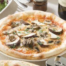 鳳尾魚披薩