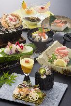 18,150日圓套餐 (8道菜)