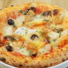 海鲜蒜香披薩