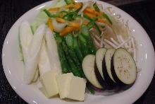 鐵板燒蔬菜