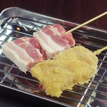豬五花肉串燒