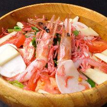 鮮蝦凱撒沙拉