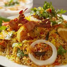 鮮蝦印度香飯