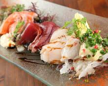 義式生醃魚肉拼盤