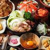 滿月招牌菜【國產牛內臟的壽喜燒】與【盡情串烤】套餐