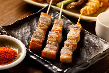 五花豬肉串燒