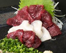 馬肉瘦肉刺身