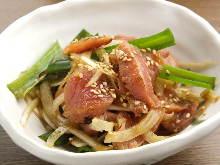半生豬肉配山葵