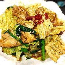 高麗菜炒豬肉