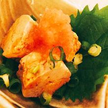 柑橘醋安康魚肝