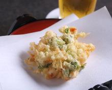 小貝柱蔬菜炸什錦