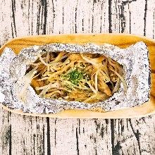 鋁箔包烤蘑菇
