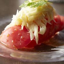 番茄新薑嫩芽拼盤