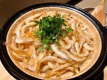 土鍋炊飯 (白蝦,牛蒡)