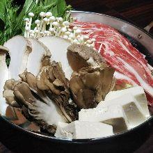 黑豬肉蘑菇味噌火鍋