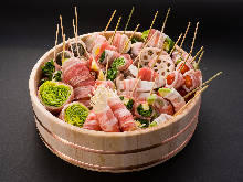 蔬菜串燒拼盤