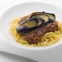 粗絞肉佐炸茄子「肉醬」義大利麵