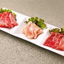 3種烤肉拼盤