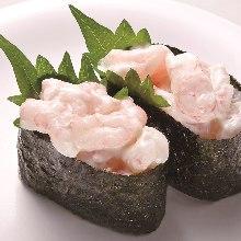 美乃滋鮮蝦軍艦壽司
