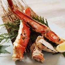 碳火烤螃蟹
